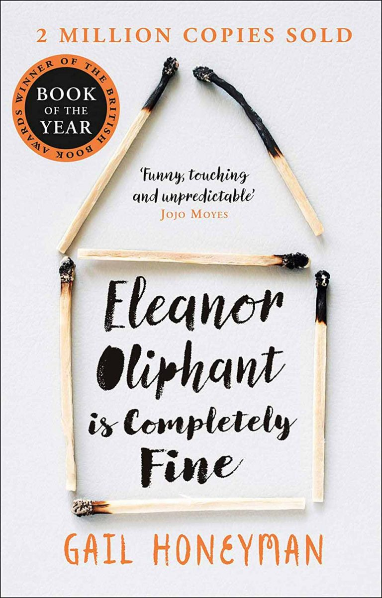 """Book cover for """"Eleanor Oliphant is Completely Fine"""" by Gail Honeyman"""
